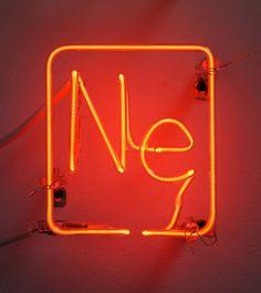 "Ne (Neon)  Glass Tubing and Neon Gas, 5x5"" $750"