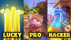 LUCKY vs PRO vs HACKER - Overwatch Pro + Funny Moments #4 Funny Moments, Overwatch, Times Square, Broadway Shows, In This Moment