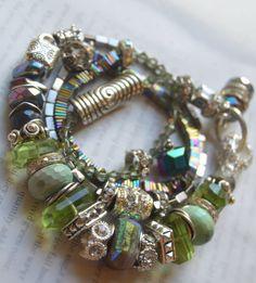 ON SALE chunky bracelet artisan bracelet green by soulfuledges