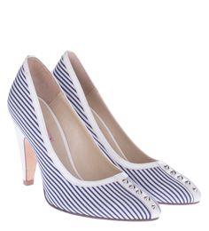 Ριγέ Γόβα VICENZA  TP-UG-FT07-0126-15 Peeps, Peep Toe, Shoes, Fashion, Zapatos, Moda, Shoes Outlet, La Mode, Shoe