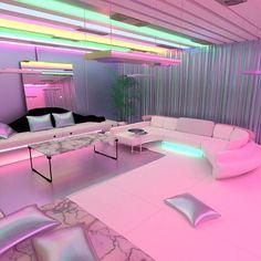 ▾ virtual art dream rooms, bedroom decor и r Cute Bedroom Ideas, Girl Bedroom Designs, Room Ideas Bedroom, Awesome Bedrooms, Cool Rooms, Bedroom Decor, Neon Bedroom, Girls Bedroom, Dream Rooms