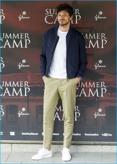 Back to Basics: Andres Velencoso attends the Madrid photocall of Summer Camp, wearing a casual ensemble from AMI.
