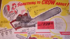 Original Vintage Promo Lombard Chainsaw Ad New 5 HP Logger #Lombard