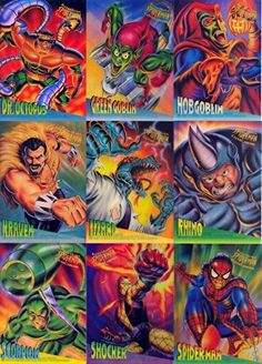 SPIDER-MAN 1995 FLEER ULTRA CLEARCHROME INSERT CARD SET 1 OF 10 - 10 OF 10