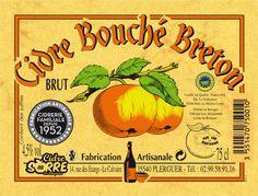 Cidre bouché breton : etiquette Cidre SORRE