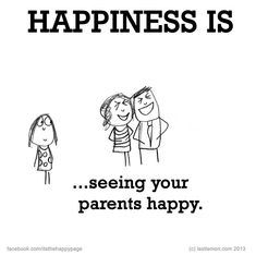 Happiness is...seeing your parents happy ♥