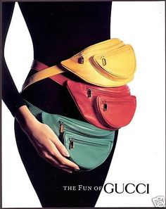 oh no they didn't: gucci fanny packs.