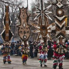 #kukeri carnival in Bulgaria. Do you have the gear for it at home?