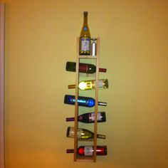 Homemade wine rack. Soon to be filled with homemade wine!