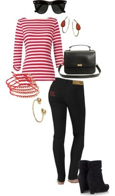 """""""Rutgers: Scarlet Knight Chic"""" by meeshandmia on Polyvore"""