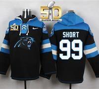 Nike Carolina Panthers #99 Kawann Short Black Super Bowl 50 Player Pullover NFL…