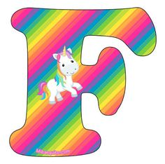 Hermoso abecedario de Unicornios para descargar e imprimir completamente gratis. Con la mejor calidad de imagen podrás obtener las letras con la figura del animal de fantasía, conel fondo tal como… Rainbow Unicorn Party, Unicorn Birthday, Banner Letters, Letters And Numbers, Alphabet Style, Birthday Letters, Real Unicorn, Unicorns And Mermaids, Disney Diy