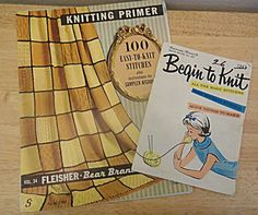 2 Vintage Knitting Instructional Guides: 1968 by 1kingsdaughter