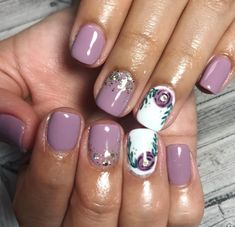 Awesome Spring Nails for Short Nails - Beauty Wowzy Great Nails, Love Nails, How To Do Nails, Nail Swag, Fancy Nails, Diy Nails, Nail Polish, Manicure And Pedicure, Wedding Manicure