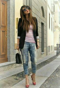 Jogg jeans - jeans para danza triba ultra elastica con textura apariencia y recistencia de la mezclilla