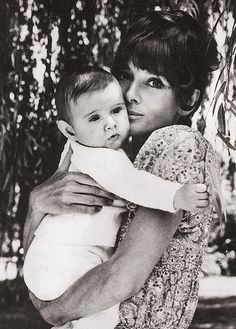Love this. Audrey Hepburn with baby Luca.