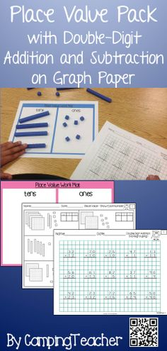 Place Value Pack with Double-Digit Addition and Subtraction on Graph Paper.