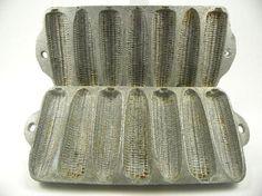 Vintage Cast Aluminum Corn Muffin Pan Cob Mold