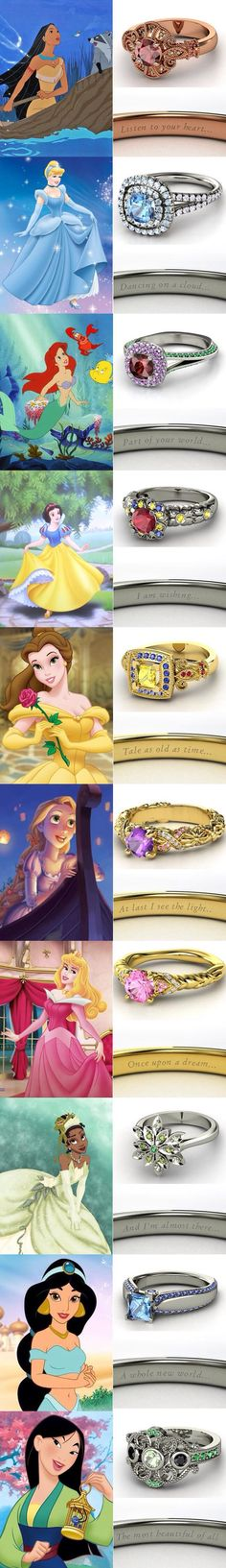Diehard Disney Princess Fandom Into Your Wedding Disney princess wedding rings and more ideas for diehard fans!Disney princess wedding rings and more ideas for diehard fans! Walt Disney, Disney Love, Disney Magic, Disney Art, Disney Stuff, Disney And Dreamworks, Disney Pixar, Funny Disney, Disney Tangled