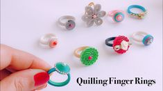 How To Make Quilling Finger Ring||simple and easy handmade paper quilling rings - YouTube