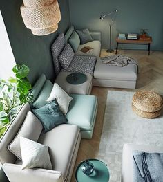 Browse IKEA living room sets and furniture online. From sofas to TV cabinets, we offer living room furniture that's functional, stylish, and cost-effective. Living Room Green, New Living Room, Home And Living, Living Room Furniture, Home Furniture, Ikea Sofas, Modular Couch, Modul Sofa, Decor Inspiration