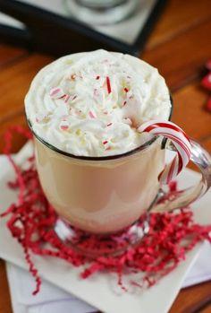 White Chocolate Peppermint Eggnog ~ enjoy a minty mugful!  www.thekitchenismyplayground.com