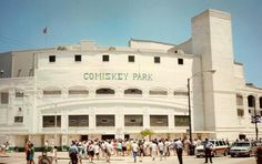 Comisky Park My Uncle Jack packed up my cousin Gayle and I like he was running out for a quick ride around the block next thing you know we were here!  We had fun running around while my Uncle watched the game we were like 12 and 9 running around the whole park...ha!  Shhhhh!!!  My Aunt would have been mad we were roaming around by ourselves :) ~Lisa