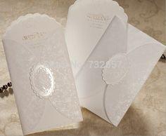 Pas cher invitations de mariage élégant blanc imprimable 210*109mm envelope+seal+cards cartes de mariage faveurs de mariage, Acheter  Accessoires de fêtes et d'évènement de qualité directement des fournisseurs de Chine:   Product Name: Invitation Cards       Occasion:   Wedding          Material: Thick Card           Inner Sheet Si
