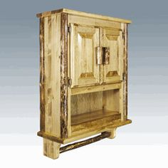 Good This Is Our Brand New Genuine Amish Pine Log Bathroom Cabinet. Free  Delivery To 48
