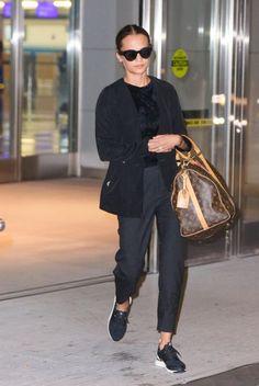 ALICIA VIKANDER Arrives at JFK Airport in New York 10/31/2017
