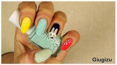#DIY #Easter #Bunny #Nailart watch the video #tutorial on my blog here: http://giugizu.blogspot.it/2015/03/hello-spring-day4-diy-easter-bunny.html