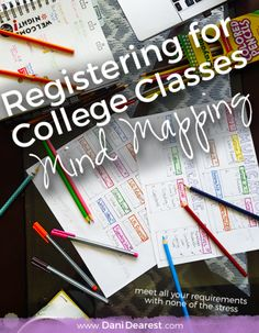 Using Mind Mapping to help Register for College Classes: Meet all your requirements with none of the stress!