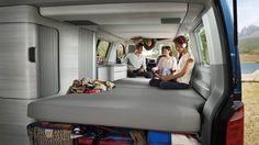 """Bett - Bed  Schlaf-Sitz-Rückbank  VW """"Hotel""""-California Camper Bus  Campervan Schlafen-Chillen-Relaxen im VW-Bus  Dachbett"""