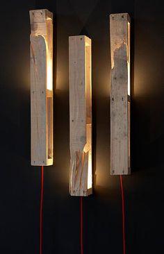 Fabulous wooden pallet ideas home plans pallet light, lighti Diy Luz, Pallet Light, Luminaria Diy, Deco Luminaire, Luminaire Design, Lamp Design, Creation Deco, Wooden Lamp, Wooden Mantel
