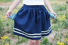 skirt with pockets! only 1.5 yards main fabric.