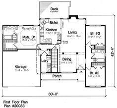 Garage / Master Bedroom Addition to our house  Ranch   Traditional   House Plan 20083