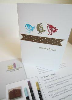 Paper Seedlings #cardmaking #birds