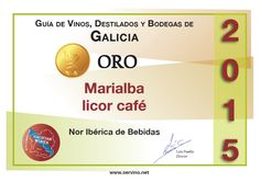 Reconocimiento Servino.net (Oro) Marialba Licor Café (D.O. Orujo de Galicia)