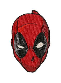Marvel Deadpool Face Iron-On PatchMarvel Deadpool Face Iron-On Patch,