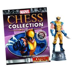 Marvel Wolverine White Knight Chess Piece with Magazine - Eaglemoss Publications - Wolverine - Statues at Entertainment Earth