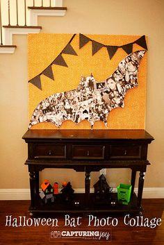 DIY Halloween : Halloween Bat Photo Collage