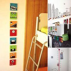 Decore y dele vida a las paredes de las habitaciones de sus hijos con estas geniales ideas.