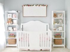 Project Nursery - Pink and Gray Floral Nursery