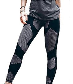 69b0e0c0d7 Pandapang Womens Print Sports Workout Fitness Yoga Skinny Pant Legging Black  M