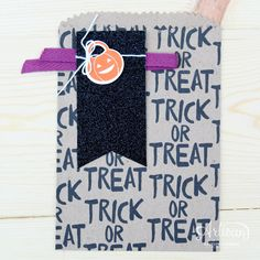 The Howl-O-Ween Treat stamp set makes for the cutest treat bags! -Kaitlyn Zumbach