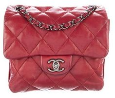 f9075739d457 Chanel Quilted 3 Accordion Mini Flap Bag Chanel Mini, Mini Hands, Red  Purses,