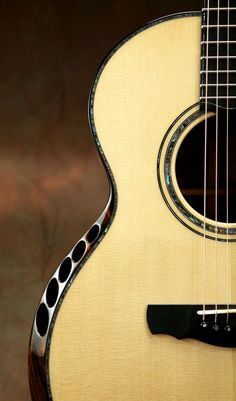 Kevin Ryan Acoustic Guitar! Check out that fluted armrest bevel!