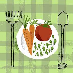 Organic Farming by Daniel Zender, via Behance
