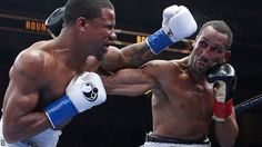 James DeGale lands a right-hand on Andre Dirrell