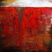 """Impressions Series III"" by Lisa Boardwine Oil/Cold Wax ~ 16"" x 16"""
